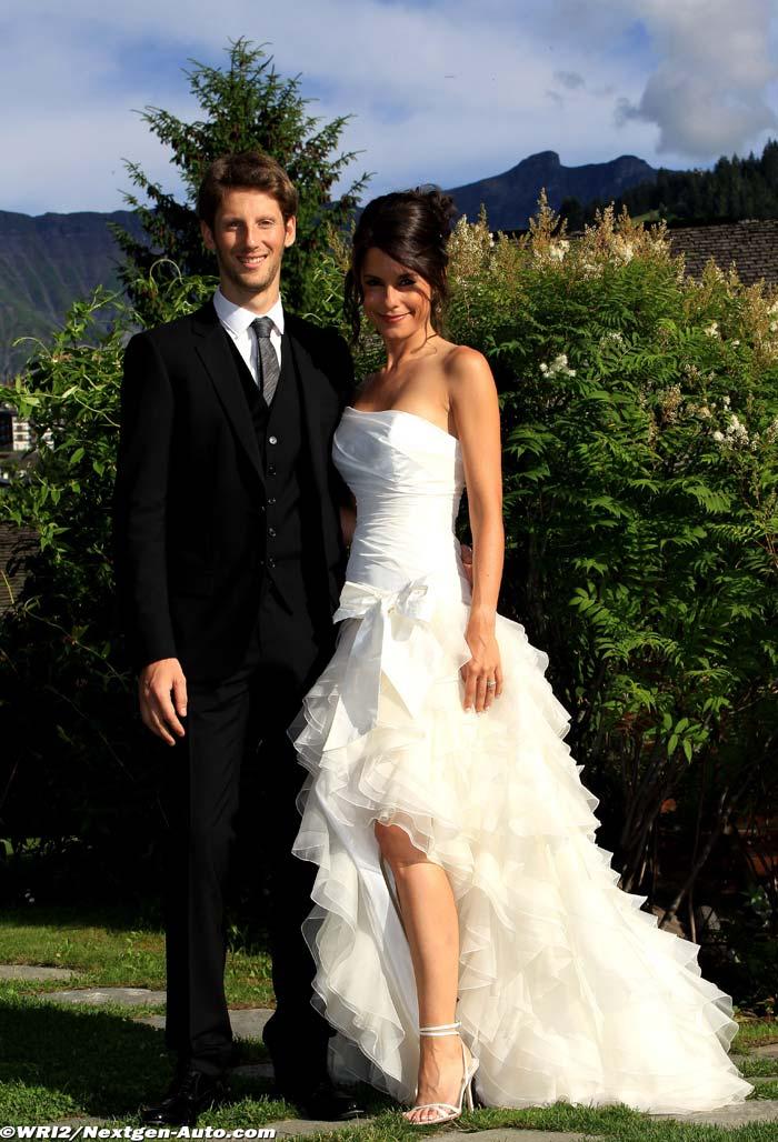 f1 formule 1 infos romain grosjean et marion joll s se sont mari s nextgen. Black Bedroom Furniture Sets. Home Design Ideas
