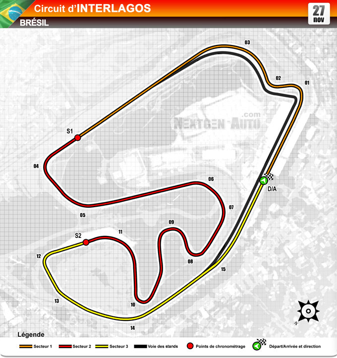 F1 - Circuit de Interlagos